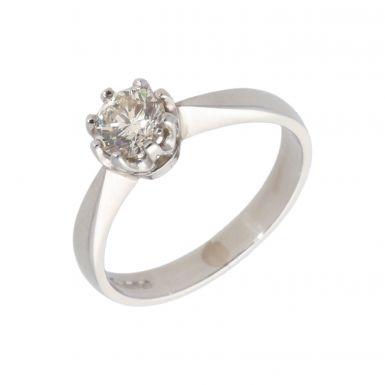 Pre-Owned Platinum 0.50 Carat Diamond Solitaire Ring