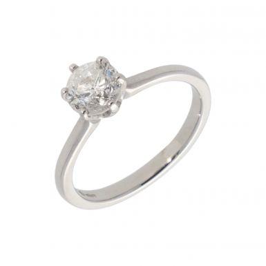 Pre-Owned Platinum 0.85 Carat Diamond Solitaire Ring