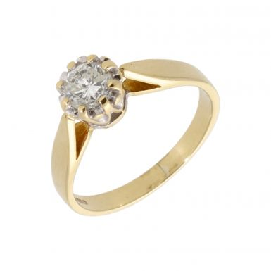 Pre-Owned 18ct Yellow Gold 0.50 Carat Diamond Solitaire Ring