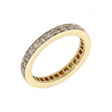 Pre-Owned 18ct Gold 1.00 Carat Diamond Full Eternity Band Ring