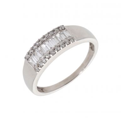 Pre-Owned 9ct White Gold 0.50 Carat Mixed Cut Diamond Dress Ring