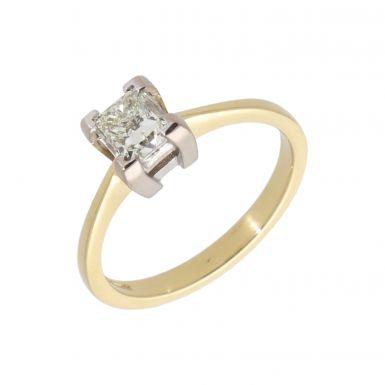 Pre-Owned 18ct Yellow Gold 0.91 Carat Princess Cut Diamond Ring
