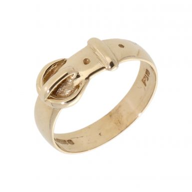 Pre-Owned 9ct Yellow Gold Buckle Ring