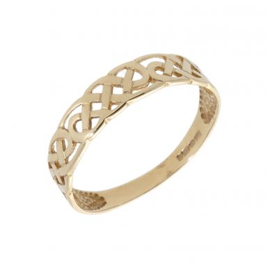 Pre-Owned 9ct Yellow Gold Celtic Dress Ring
