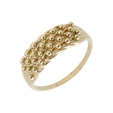 Pre-Owned 9ct Yellow Gold 4 Row Keeper Ring