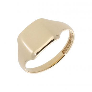 Pre-Owned 9ct Yellow Gold Polished Square Signet Ring