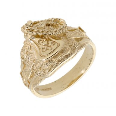 Pre-Owned 9ct Yellow Gold Saddle Ring