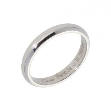 Pre-Owned Cartier Platinum 3mm Wedding Band Ring
