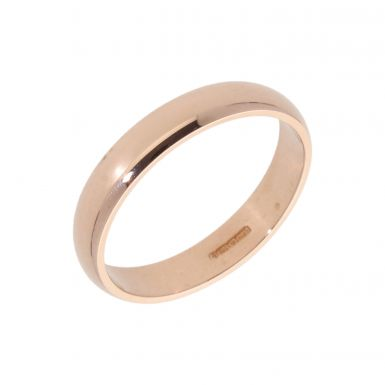 Pre-Owned 9ct Rose Gold 4mm Wedding Band Ring