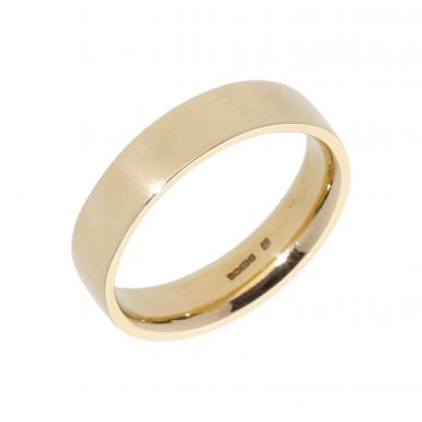 Pre-Owned 9ct Yellow Gold 5mm Flat Wedding Band Ring