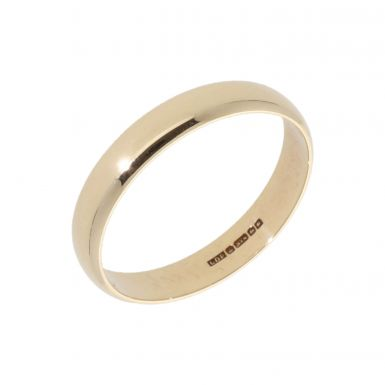 Pre-Owned 9ct Yellow Gold 4mm Wedding Band Ring