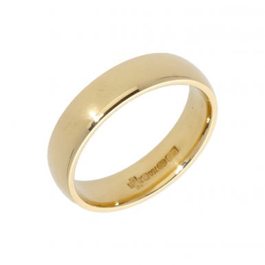Pre-Owned 18ct Yellow Gold 5mm Wedding Band Ring