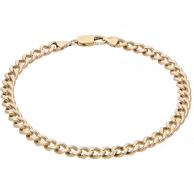 Pre-Owned 9ct Yellow Gold 8.5 Inch Curb Bracelet