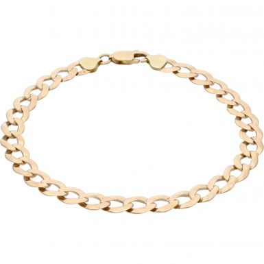 Pre-Owned 9ct Yellow Gold 10.5 Inch Curb Bracelet