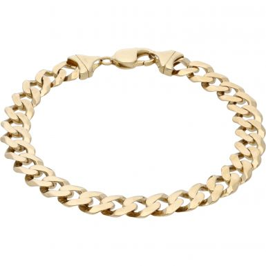 Pre-Owned 9ct Yellow Gold 9.5 Inch Curb Bracelet