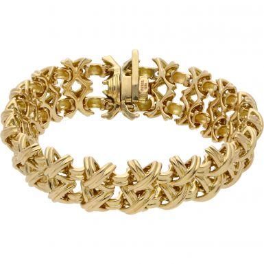 Pre-Owned 750 Tiffany & Co 7 Inch Kiss Link Bracelet