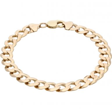 Pre-Owned 9ct Yellow Gold 9.2 Inch Curb Bracelet