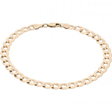 Pre-Owned 9ct Yellow Gold 8.6 Inch Curb Bracelet