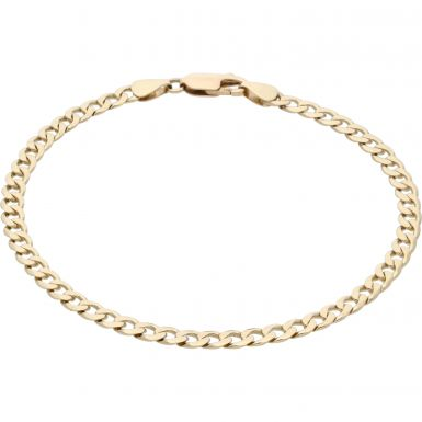 Pre-Owned 9ct Yellow Gold 7.5 Inch Curb Bracelet