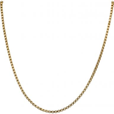 Pre-Owned 9ct Yellow Gold 16 Inch Box Link Chain Necklace