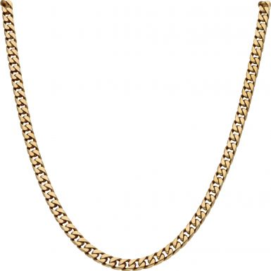 Pre-Owned 9ct Yellow Gold 22.5 Inch Heavy Curb Chain Necklace