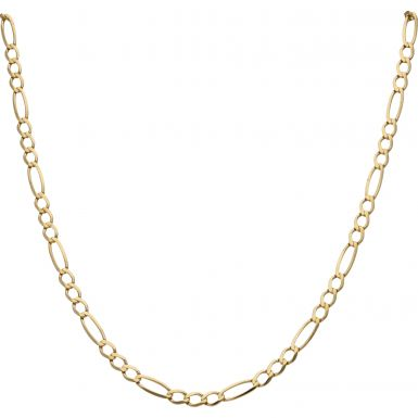 Pre-Owned 9ct Yellow Gold 19 Inch Figaro Chain Necklace