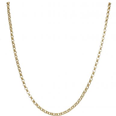 Pre-Owned 9ct Yellow Gold 28 Inch Belcher Chain Necklace