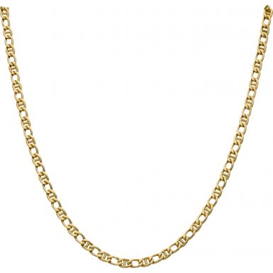 Pre-Owned 18ct Yellow Gold Curb & Anchor Link Chain Necklace