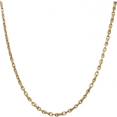 Pre-Owned 9ct Yellow Gold 24 Inch Fancy Bow Link Chain Necklace