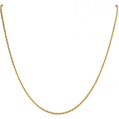 Pre-Owned 18ct Yellow Gold Fancy Braided Link Chain Necklace