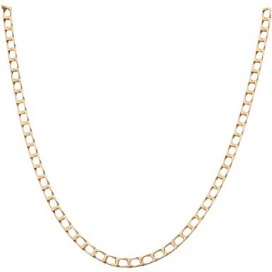 Pre-Owned 9ct Yellow Gold 20 Inch Square Curb Chain Necklace