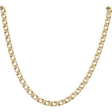 Pre-Owned 9ct Yellow Gold 16 Inch Double Curb Chain Necklace