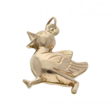 Pre-Owned 9ct Yellow Gold Hollow Duck Charm