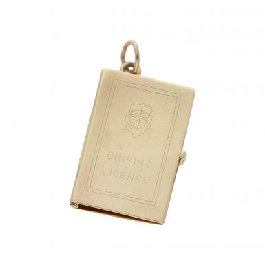 Pre-Owned 9ct Yellow Gold Driving Licence Charm