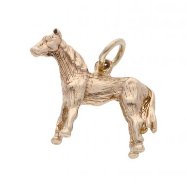Pre-Owned 9ct Yellow Gold Horse Charm Pendant