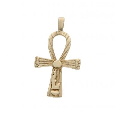 Pre-Owned 9ct Yellow Gold Large Ankh Cross Pendant