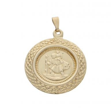 Pre-Owned 9ct Yellow Gold Lightweight St.Christopher Pendant