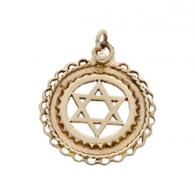 Pre-Owned 9ct Yellow Gold Star Of David Pendant