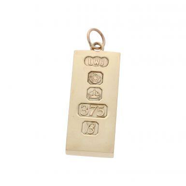 Pre-Owned 9ct Yellow Gold Ingot Pendant