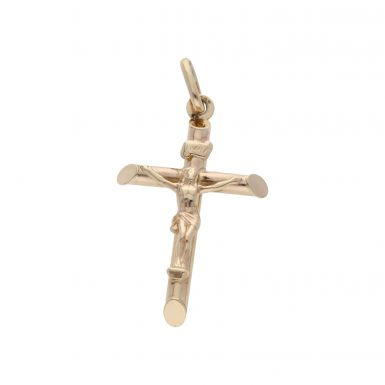 Pre-Owned 9ct Yellow Gold Hollow Crucifix Pendant