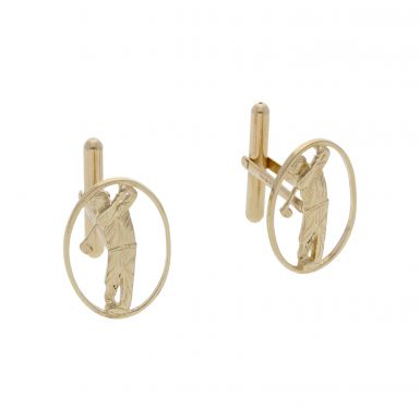 Pre-Owned 9ct Yellow Gold Golf Cufflinks