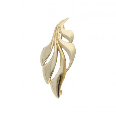 Pre-Owned 9ct Gold Leaf Brooch