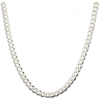 Pre-Owned Silver 20 Inch Curb Chain Necklace