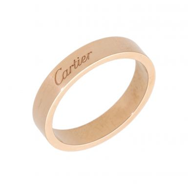 Pre-Owned 18ct Rose Gold 4mm Cartier Wedding Band Ring