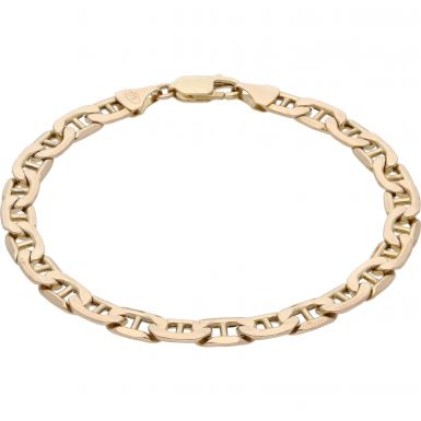 Pre-Owned 9ct Yellow Gold 8 Inch Hollow Anchor Link Bracelet