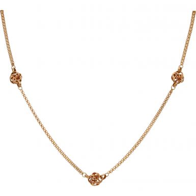 Pre-Owned 18ct Gold 18 Inch Fancy Knot Necklace