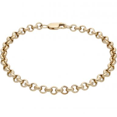 Pre-Owned 9ct Yellow Gold 8 Inch Belcher Bracelet